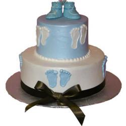 Round Baby Shower Cake