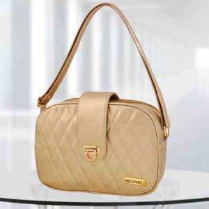 AP Whitney Golden Color Bag - Branded Handbags Online