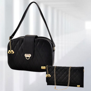 AP Whitney Black Bag - Branded Handbags Online