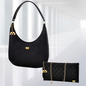 AP Isabella Black Bag - Branded Handbags Online