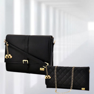 AP Scarlett Black Bag