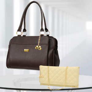 AP Freya Dark Brown Bag - Branded Handbags Online
