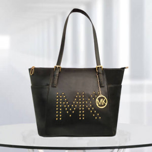 MK Zinnia Studded Black Color Bag