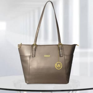 MK Zinnia Gun Metal Color Bag - Branded Handbags Online