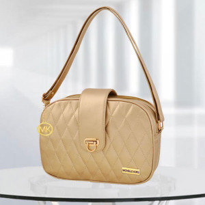 MK Whitney Golden Color Bag