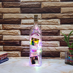 Birthday Led Bottle Lamp - Personalised Photo Gifts Online