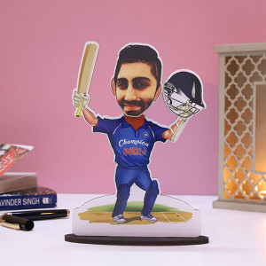 Customised Cricketer Caricature - Personalised Caricatures Online