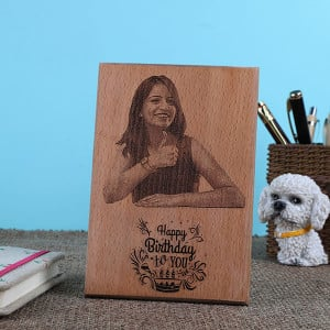 Personalised Birthday Wooden Plaque - Personalised Photo Frames Gifts