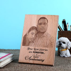 Anniversary Wooden Plaque - Personalised Photo Frames Gifts