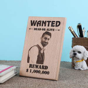 Personalised Funky Dead Or Alive Wooden Plaque