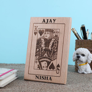 Personalised King And Queen Wooden Plaque - Personalised Photo Frames Gifts