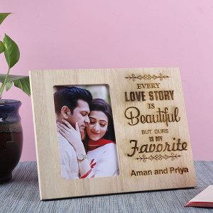 Customised Beautiful Love Story Frame - Personalised Photo Frames Gifts