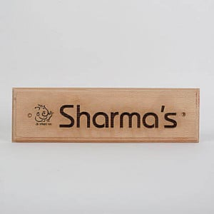 Customised Engraved Wooden Nameplate With Ganesha - Online Gift Ideas