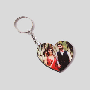 Personalised Heart Key Chain - Personalised Photo Gifts Online