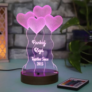 Personalised Hearts Led Lamp - HomePage-2