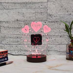 Birthday Led Lamp with Clock - Birthday Cakes Online