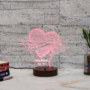Rose with Heart Led Lamp - HomePage-2