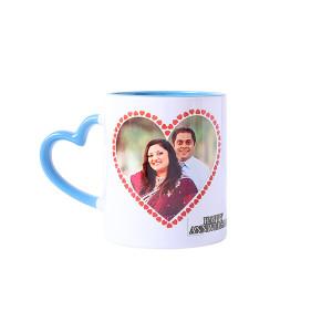 Personalised Heart Shape Handle Ceramic Mug - Mugs