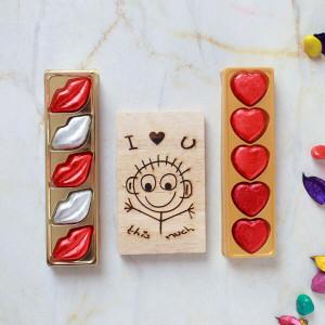 Sweet Unique Chocolates & Wooden Plaque