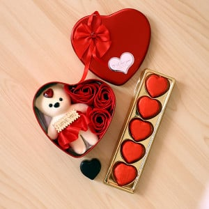 Love Combo With Heart Shape Box