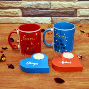Lovely Mug Set & Radiant T-Light