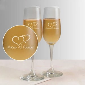 Love Wine Glasses Couple