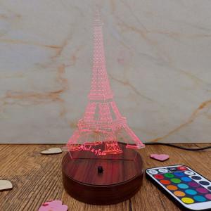Personalised Eiffel Tower Lamp