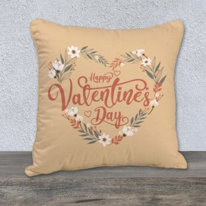Graceful Happy Valentines Day Cushion