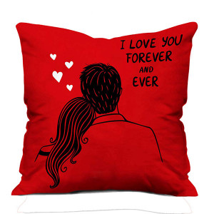 Lovely Red Fur Cushion
