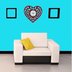 Heart-shaped Wall Clock