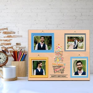 Personalised Wooden Birthday Frame - Personalised Photo Frames Gifts