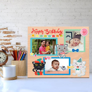 Personalised Cute Wooden Birthday Frame - Personalised Photo Frames Gifts
