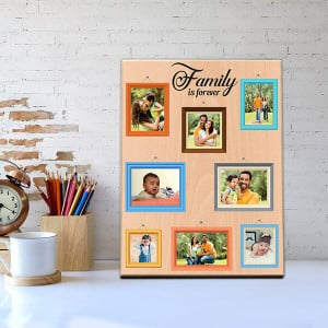 Forever Family Wooden Photo Frame - Personalised Photo Frames Gifts