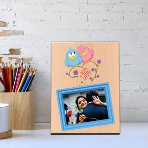 With Love Wooden Photo Frame - Personalised Photo Frames Gifts