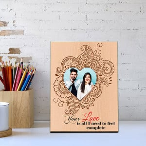 Complete Love Wooden Photo Frame - Personalised Photo Frames Gifts