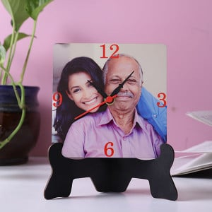 Elegant Table Clock With Stand - Personalised Photo Gifts Online