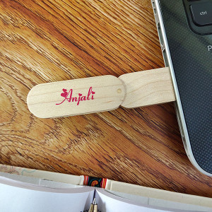Wooden Name Pen Drive 32GB - Pen Drives