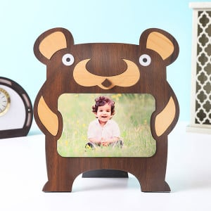 Customised Kids Bear Shape Photo Frame - Personalised Photo Frames Gifts