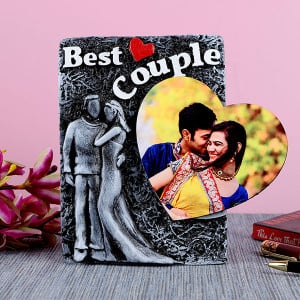 Personalised Best Couple Photo Frame With Heart - Personalised Photo Frames Gifts