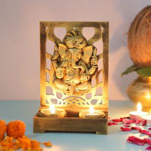 Ganesha Cute T Light Holder