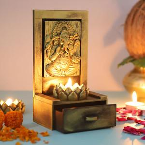 Vamamukhi Ganesha Idol With A Drawer