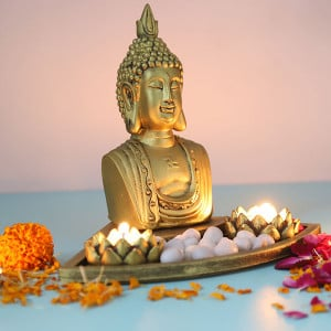 Divine Buddha Head In An Oval Shapetray - Online Gift Ideas