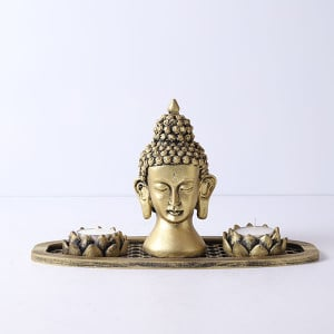 Beautiful Buddha In An Oval Shape Tray