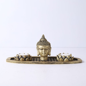 Buddha God Head In An Oval Shape Tray
