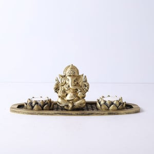 Ganpati Gift Set In An Oval Shape Tray - Online Gift Ideas