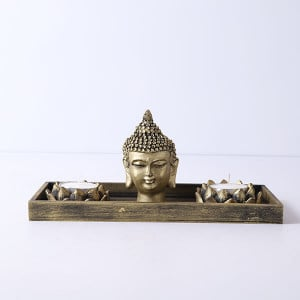 Buddha God Head With T Light Holder - Online Gift Ideas