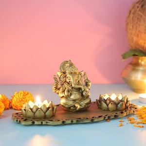 Ganpati Decorative T Light Holder