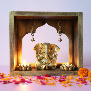 Ganpati In Mandir - Online Gift Ideas