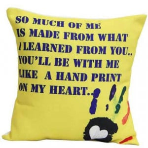 Yellow Printed Cushion - Cushions