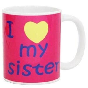 Love Mug For Sister with Ceramic Material